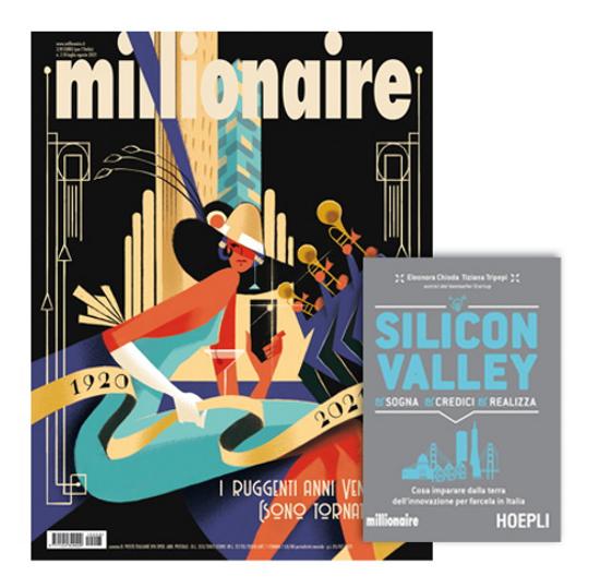 """Immagine di MILLIONAIRE - ABBONAMENTO ITALIA 5 NUMERI + LIBRO """"Silicon Valley"""""""